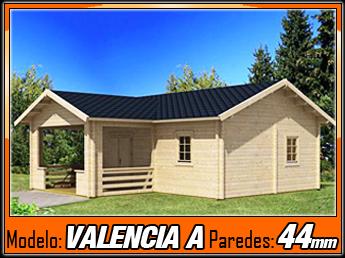 Bungalow de madera valencia a 40m2 casas de madera y for Casas de madera valencia