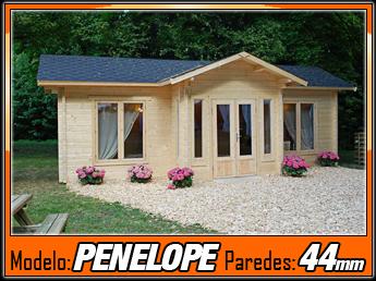 Bungalows de madera penelope 26 7 m2 casas de madera y - Bungalow de madera ...