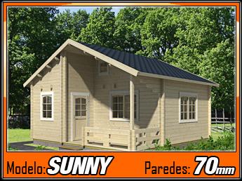 Bungalows de madera sunny 45m2 casas de madera y - Fotos de bungalows de madera ...