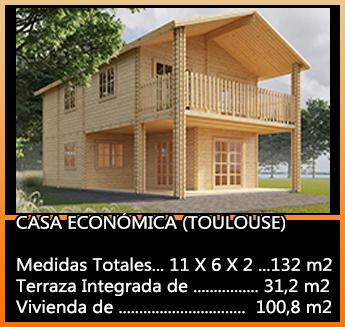 Casa De Madera En Kit Toulouse Casas De Madera Y