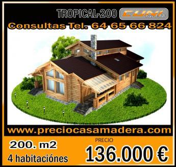 Casa de madera prefabricada tropical 200 casas de madera - Casas de madera tropical ...