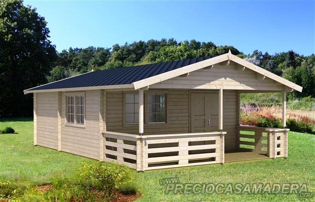Bungalow de madera tormes 38m2 casas de madera y - Fotos de bungalows de madera ...