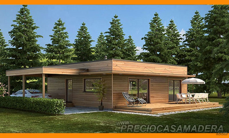 Casa de madera modular modelo 123m2 casas de madera y - Fotos de bungalows de madera ...
