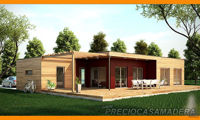 Casa de madera modular modelo 169m2 casas de madera y for Casas de madera a medida