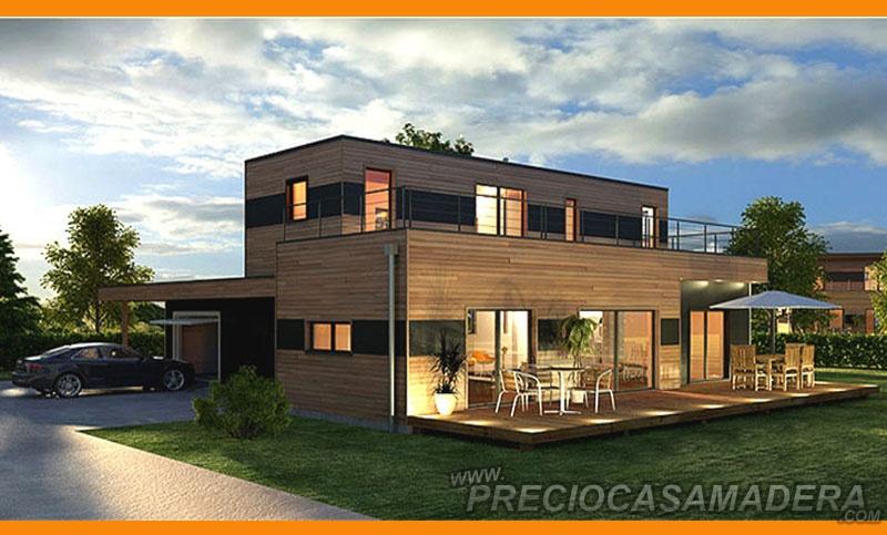 Casa de madera modular modelo 192m2 casas de madera y - Casas prefabricadas tarragona ...