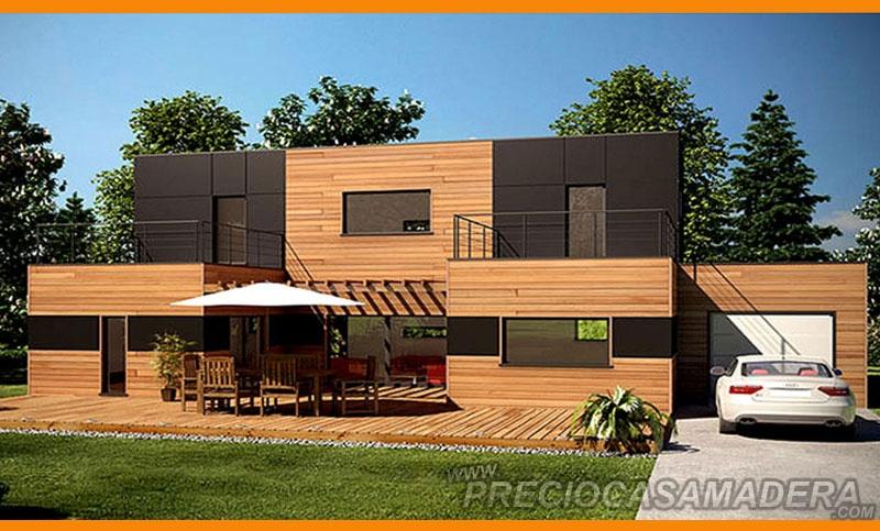 Casa de madera modular modelo 240m2 casas de madera y - Casas de madera modulares ...