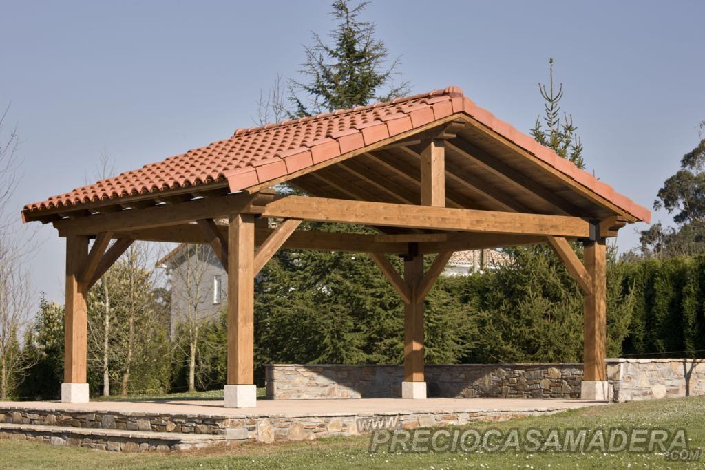 Dudas sobre las pergolas casas de madera y bungalows en for Techos de teja para terrazas