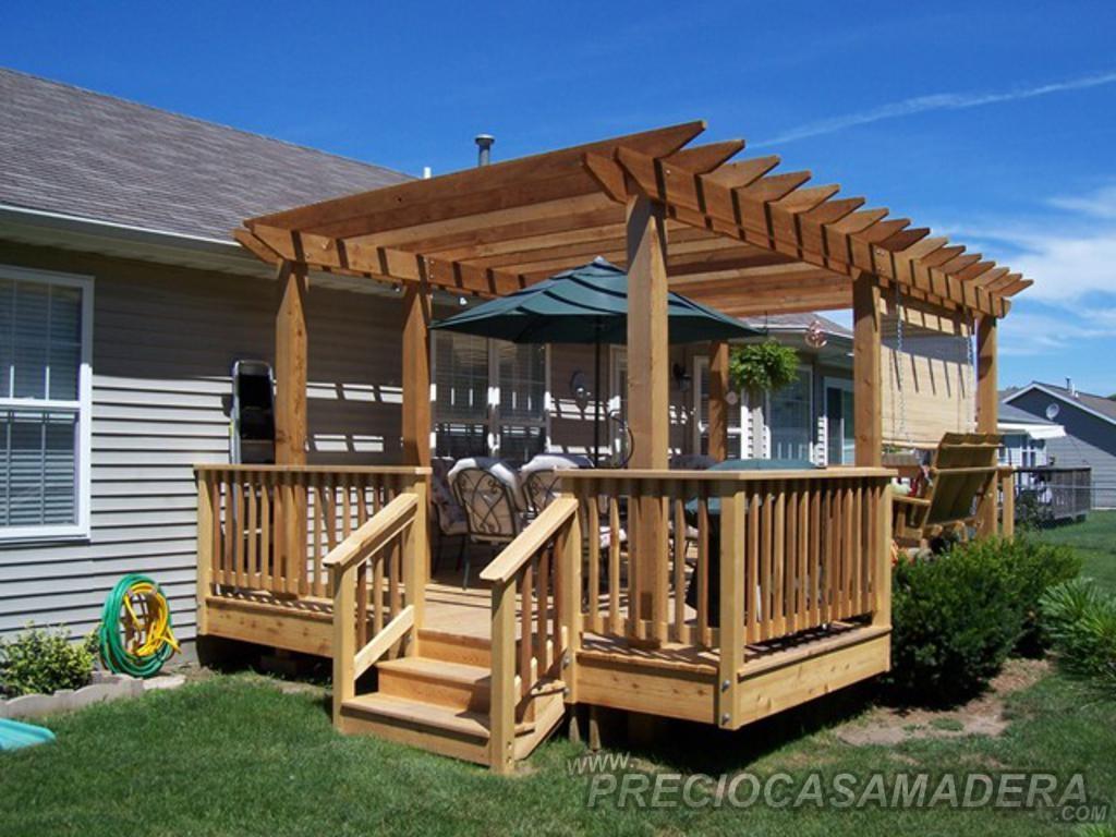 Dudas sobre las pergolas casas de madera y bungalows en for Pergolas de madera bricor