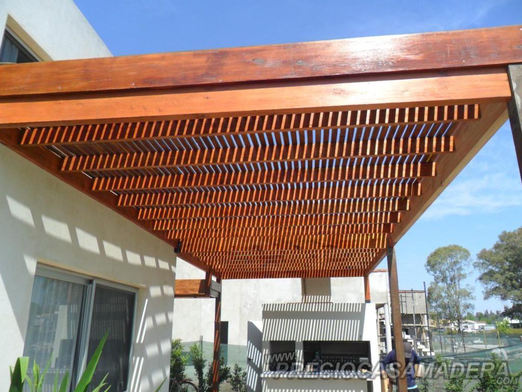 Dudas sobre las pergolas casas de madera y bungalows en for Techos de madera para exterior