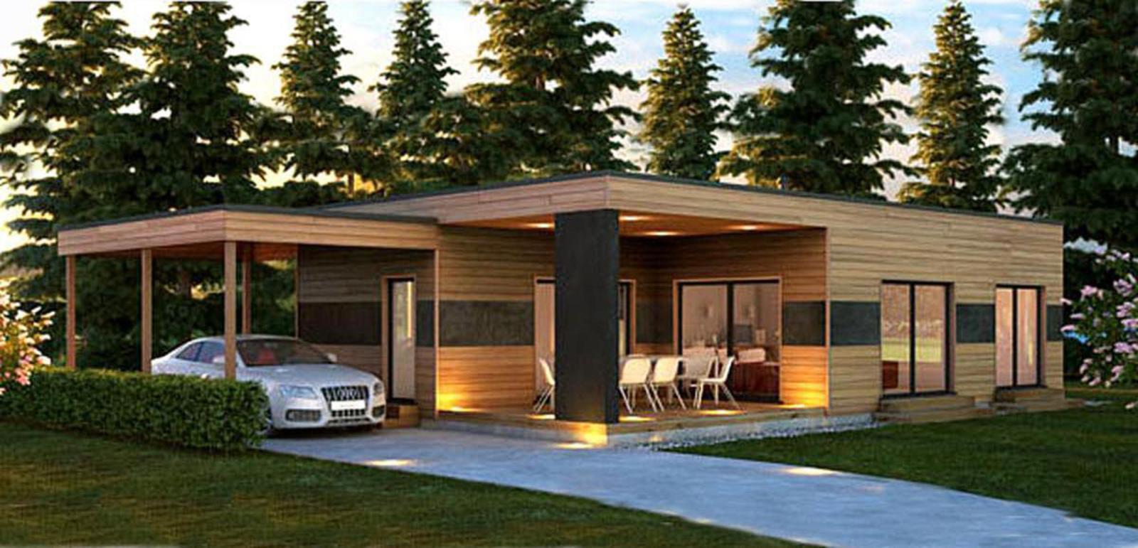 Bungalows modulares a medida casas de madera y - Casas prefabricadas tarragona ...