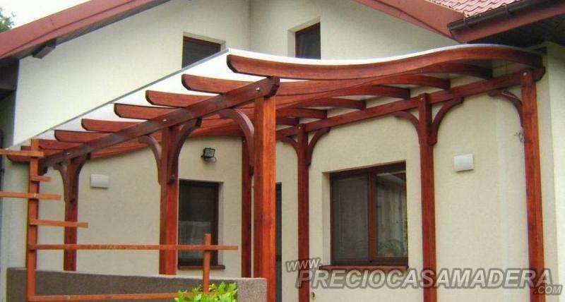 Pergola de madera verona casas de madera y bungalows en - Diseno de pergolas de madera ...
