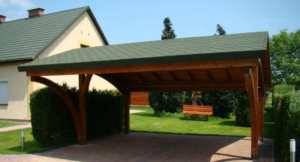 Garaje de madera revelation dos plazas casas de madera y - Garaje de madera ...