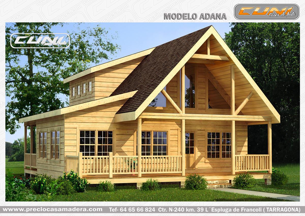 Casa de madera prefabricada adana casas de madera y - Casas economicas de madera ...