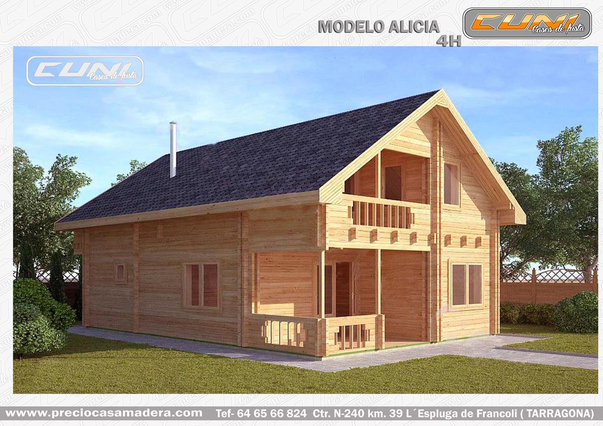 Casa de madera prefabricada alicia casas de madera y - Fotos de bungalows de madera ...