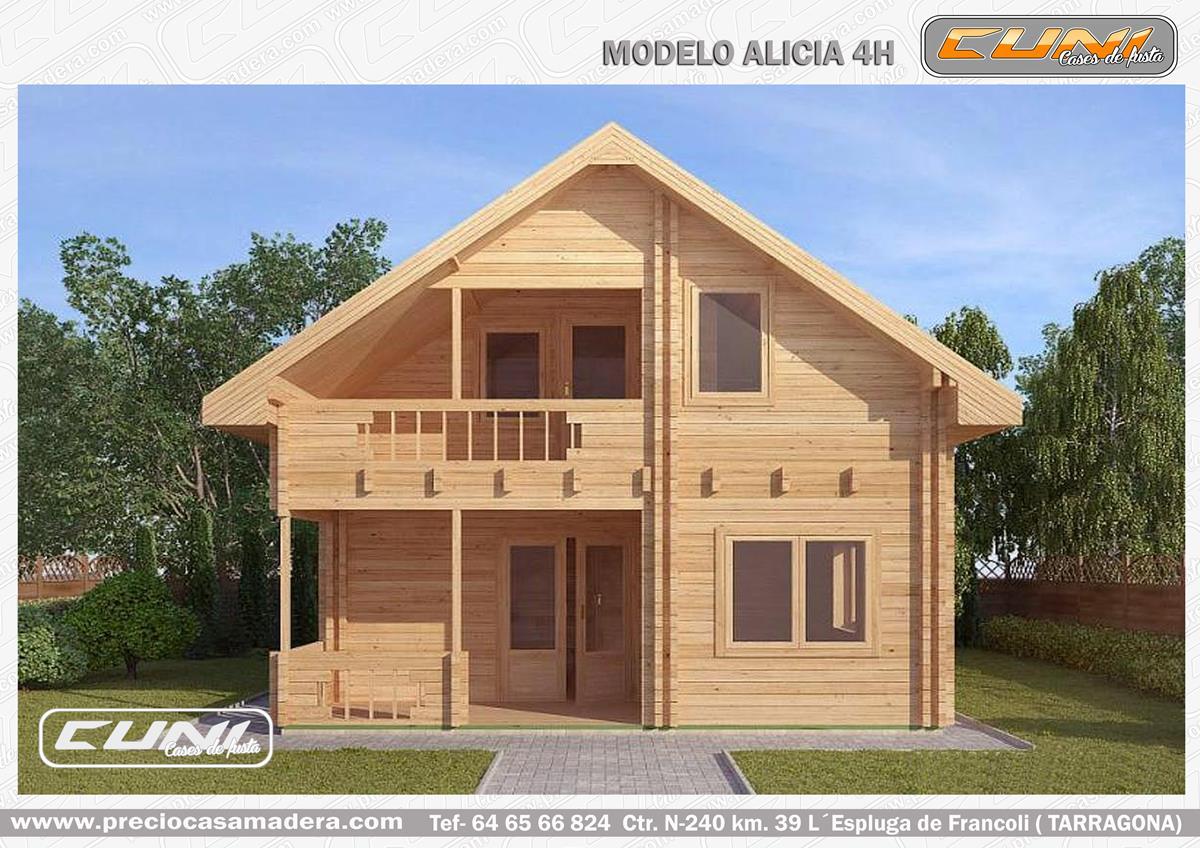 Casa de madera prefabricada alicia casas de madera y for Oficina de correos tarragona