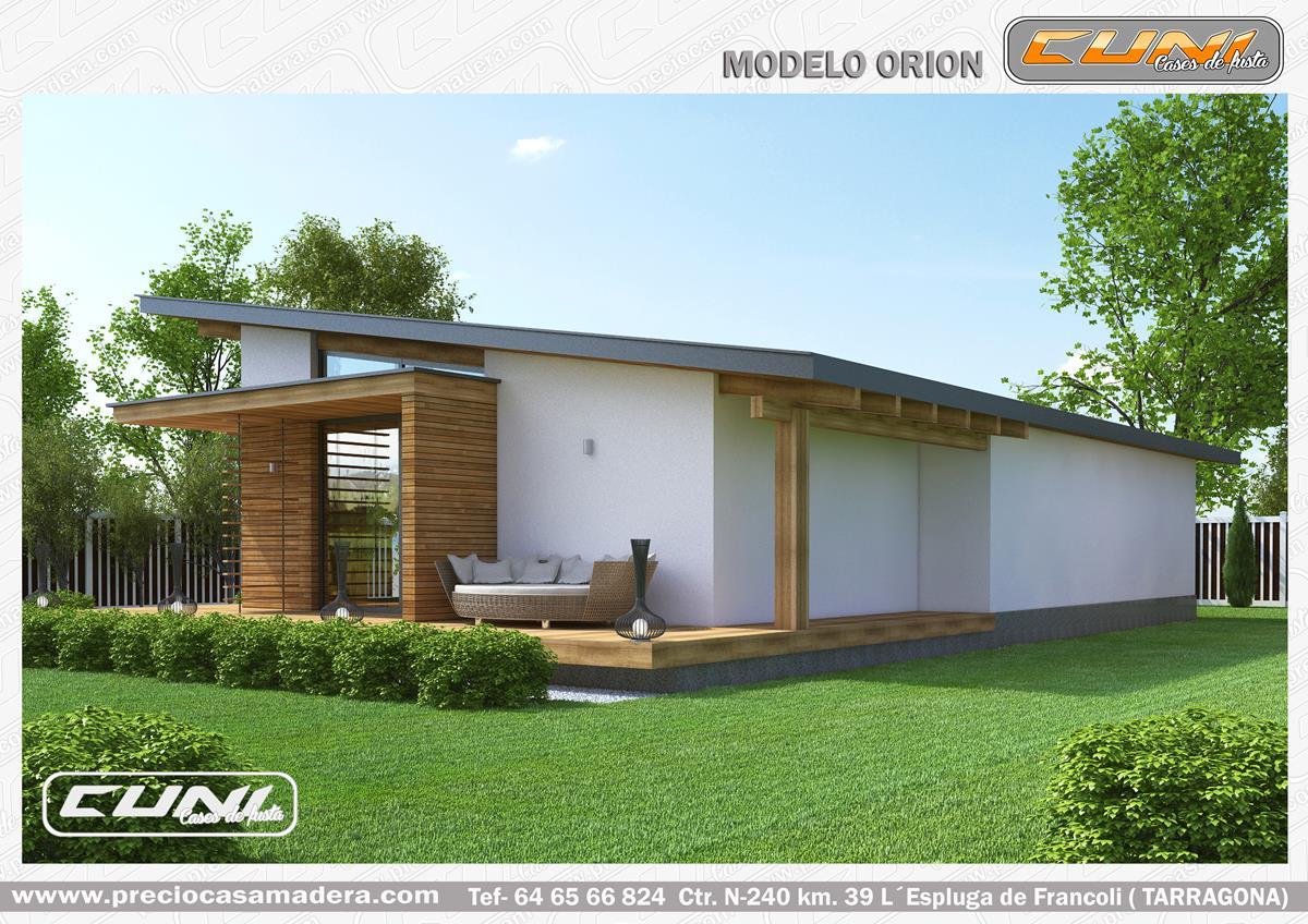 Casa de madera prefabricada orion casas de madera y - Casas prefabricadas tarragona ...