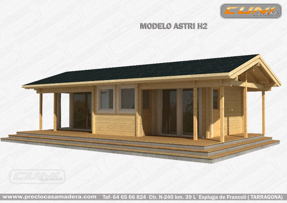 Bungalow de madera astri casas de madera y bungalows en - Casas prefabricadas tarragona ...