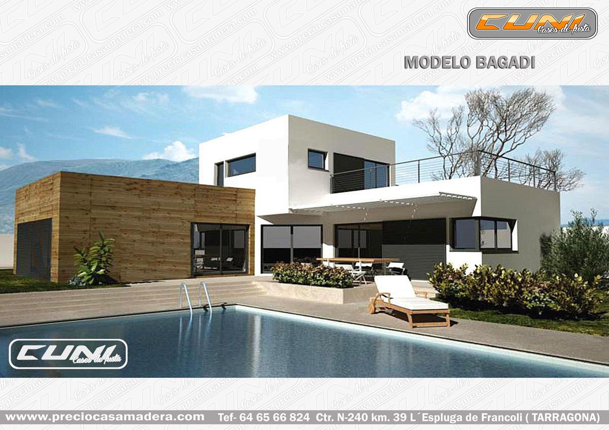 Casa de madera modular bagadi 4 casas de madera y - Fotos de bungalows de madera ...