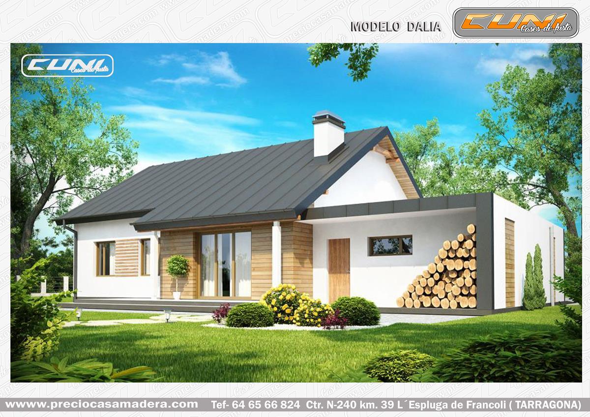 Casas de madera prefabricada dalia casas de madera y - Casas prefabricadas tarragona ...