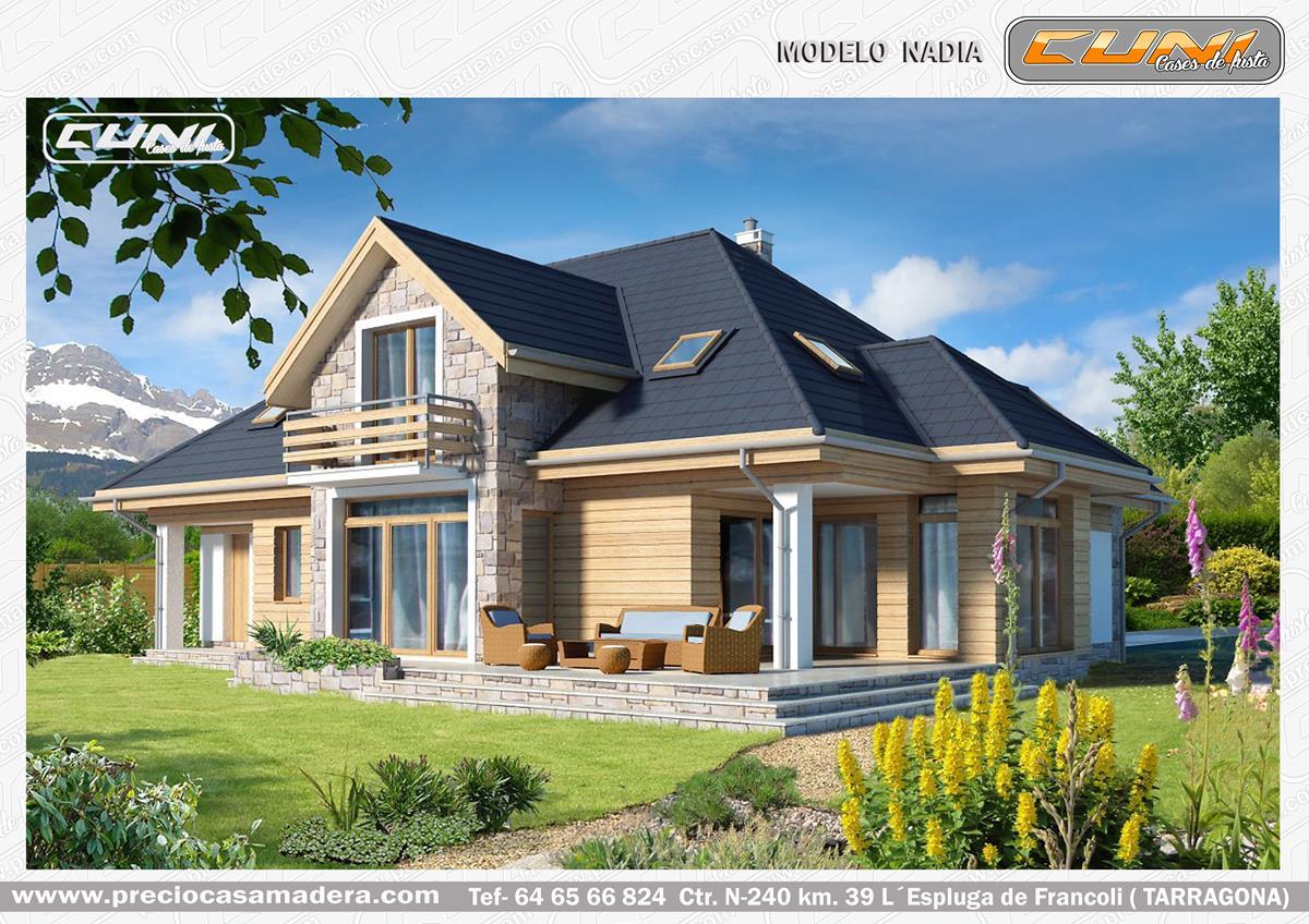 Casa de madera prefabricada dania casas de madera y - Casas prefabricadas tarragona ...