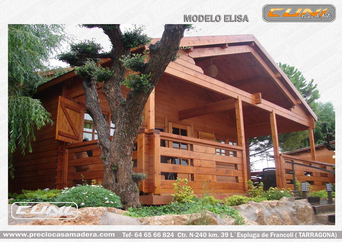 Bungalow de madera elisa 2 casas de madera y bungalows - Casas prefabricadas tarragona ...
