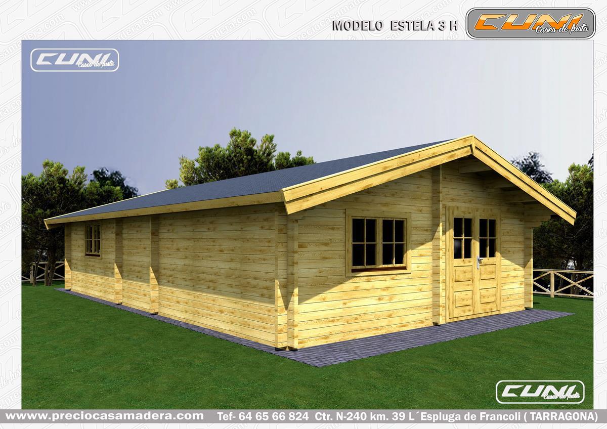 Bungalow de madera estela 3 casas de madera y bungalows for Casas de madera a medida