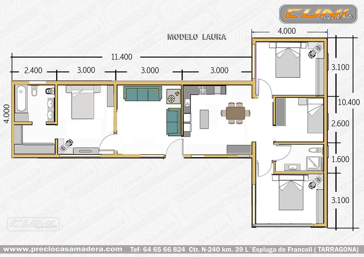 Casas prefabricadas madera financiar casa prefabricada - Bungalows de madera prefabricadas precios ...