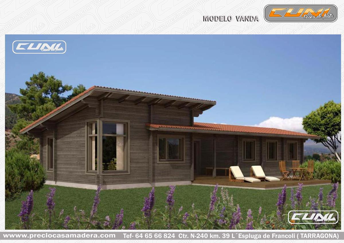 Casa de madera prefabricada lavanda casas de madera y - Casas prefabricadas tarragona ...