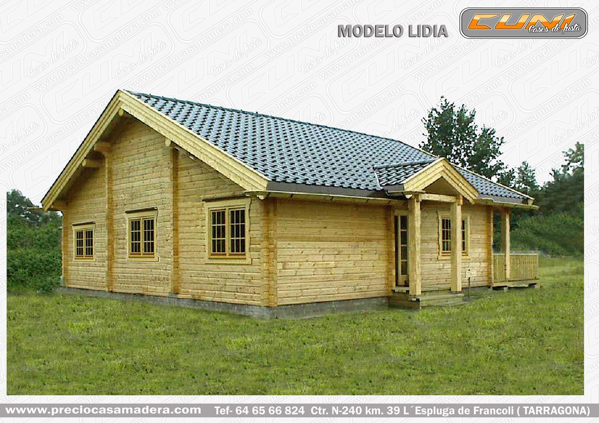 Casa de madera prefabricada lidia casas de madera y - Fotos de bungalows de madera ...