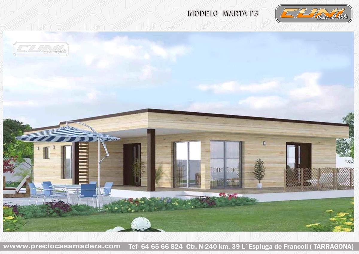 Casa de madera modular marta p casas de madera y - Casas prefabricadas tarragona ...