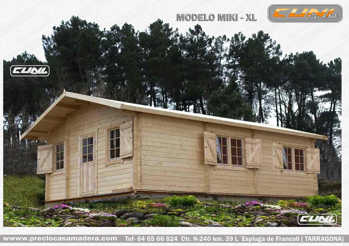 Bungalow de madera miki xl casas de madera y bungalows - Casas prefabricadas tarragona ...