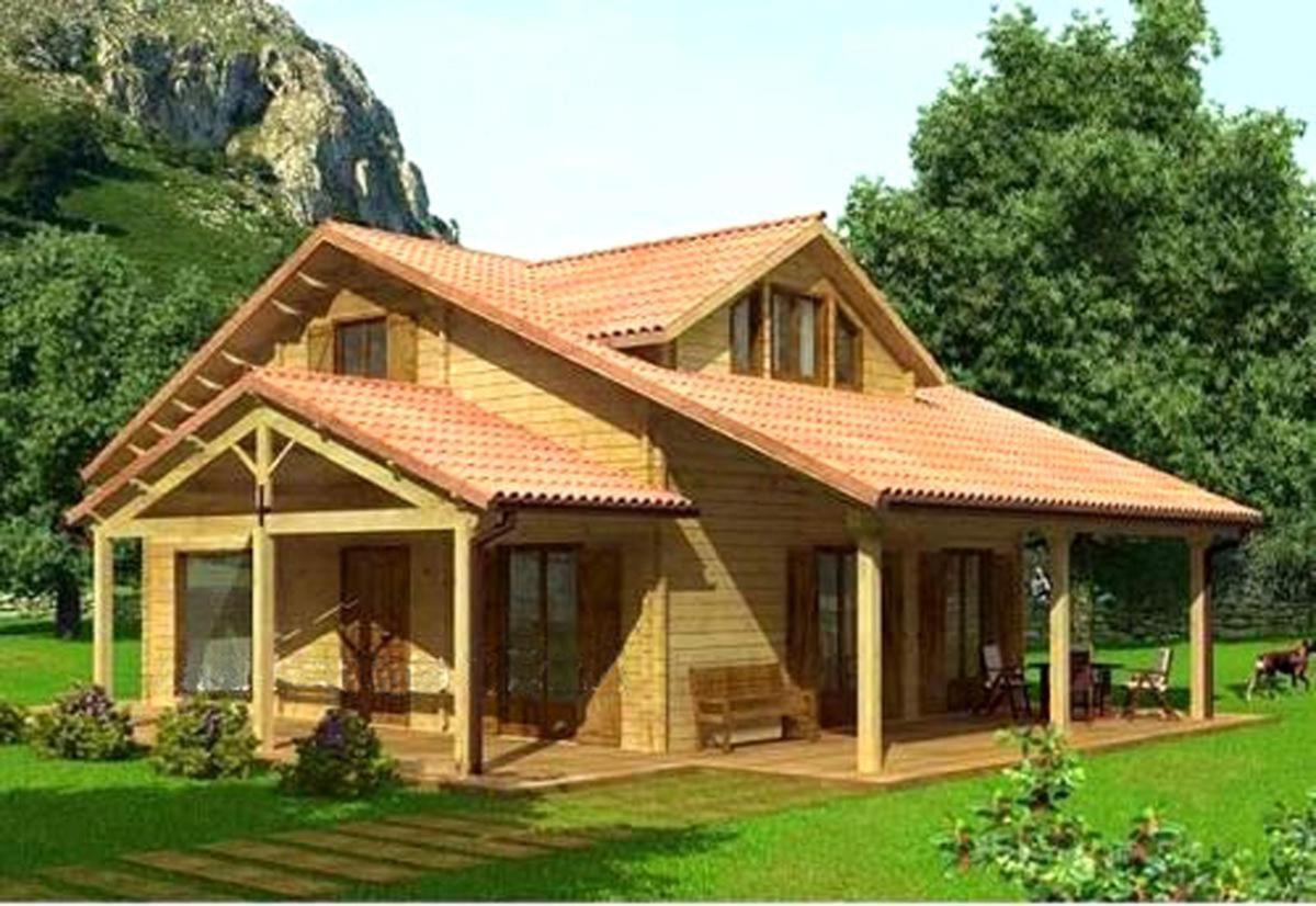 Casa de madera prefabricada montblanc casas de madera y - Bungalows de madera prefabricadas precios ...