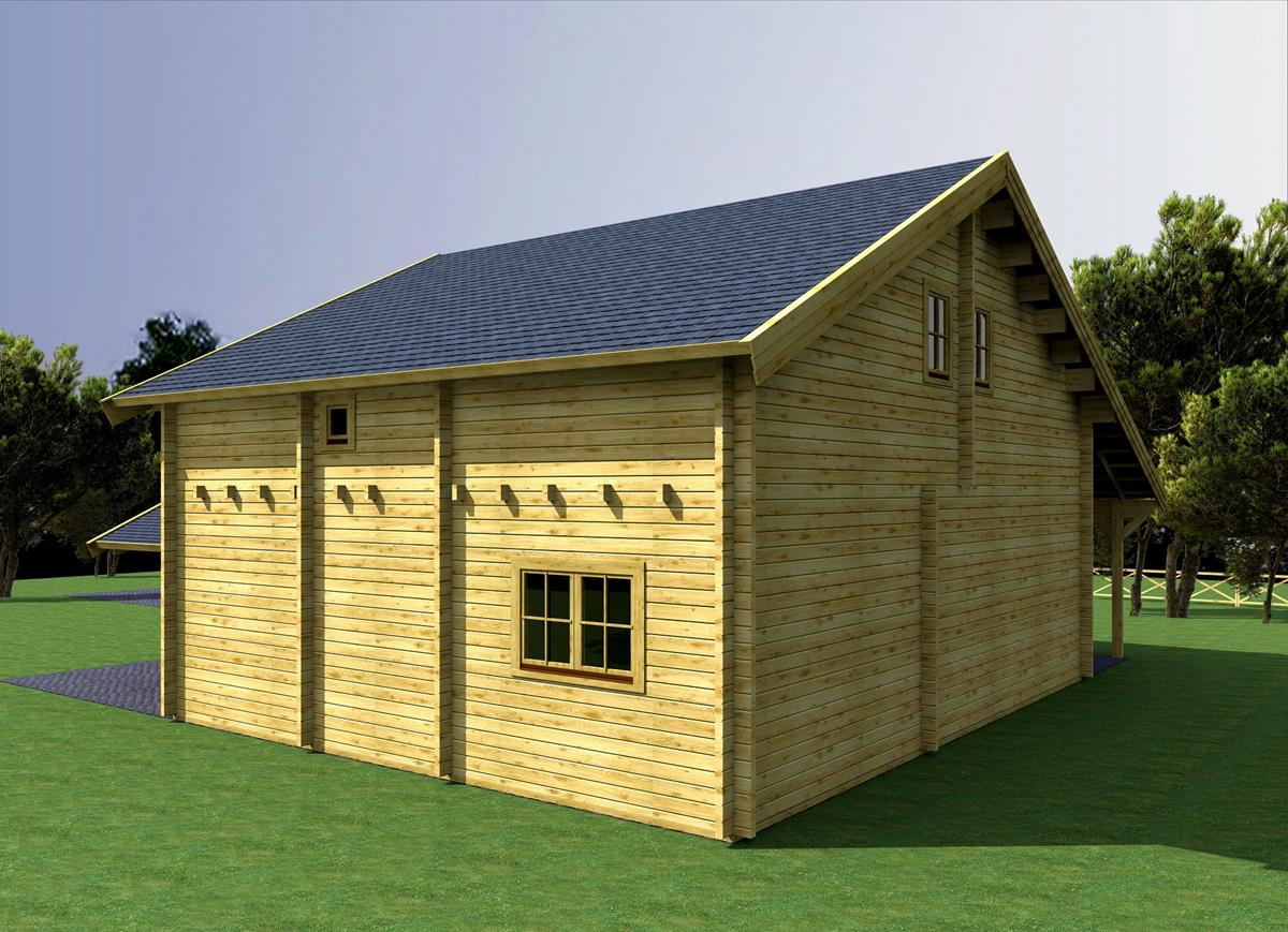 Casa de madera prefabricada montblanc casas de madera y - Casas prefabricadas tarragona ...