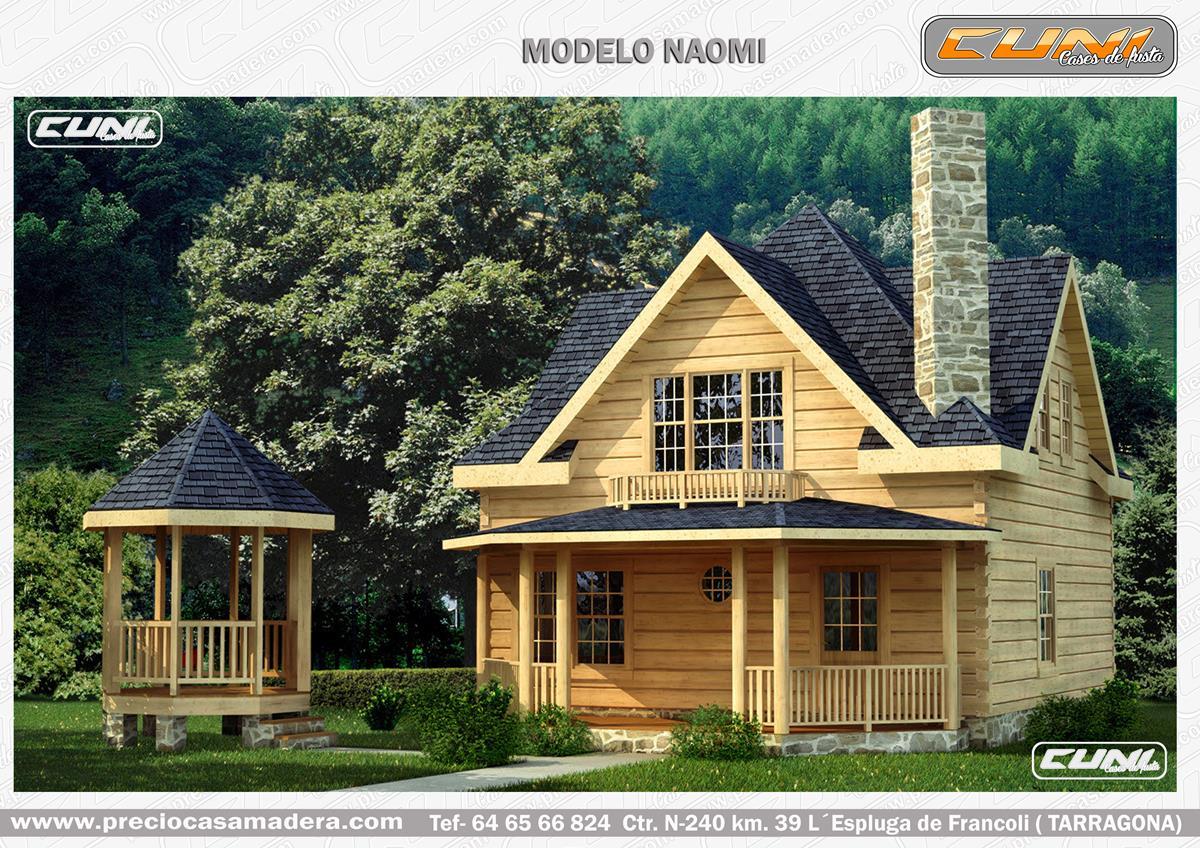 Casa de madera prefabricada naomi casas de madera y - Casas prefabricadas tarragona ...
