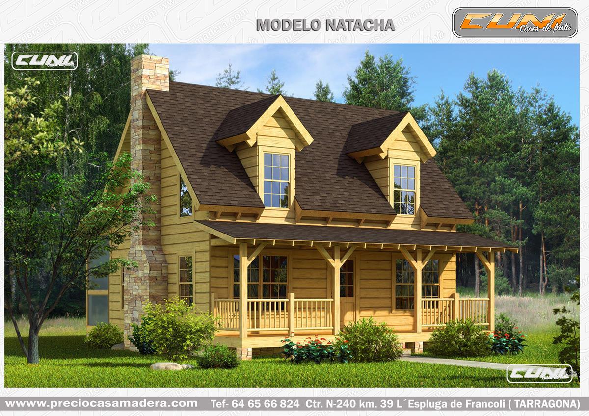 Casa de madera prefabricada natacha casas de madera y - Casas prefabricadas tarragona ...