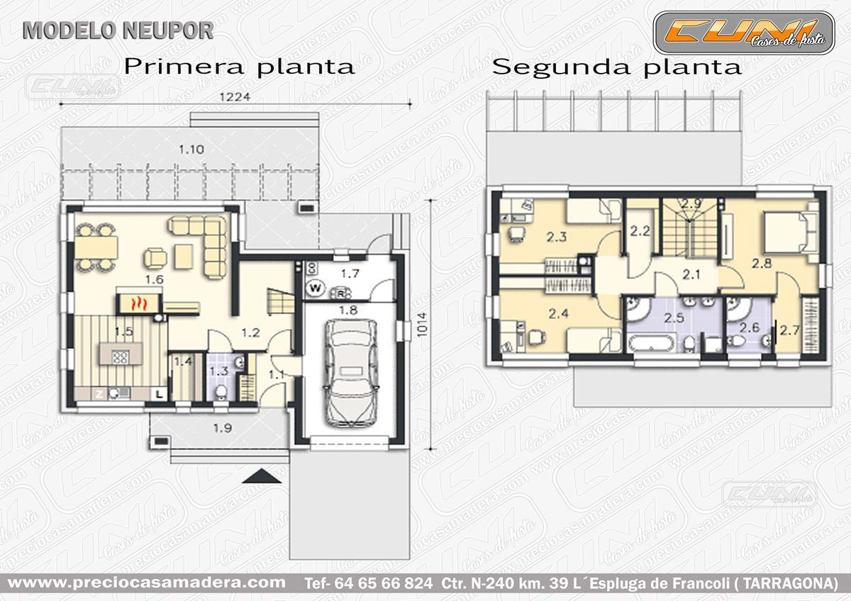 Casa de madera modular neupor casas de madera y for Vendo casa madera