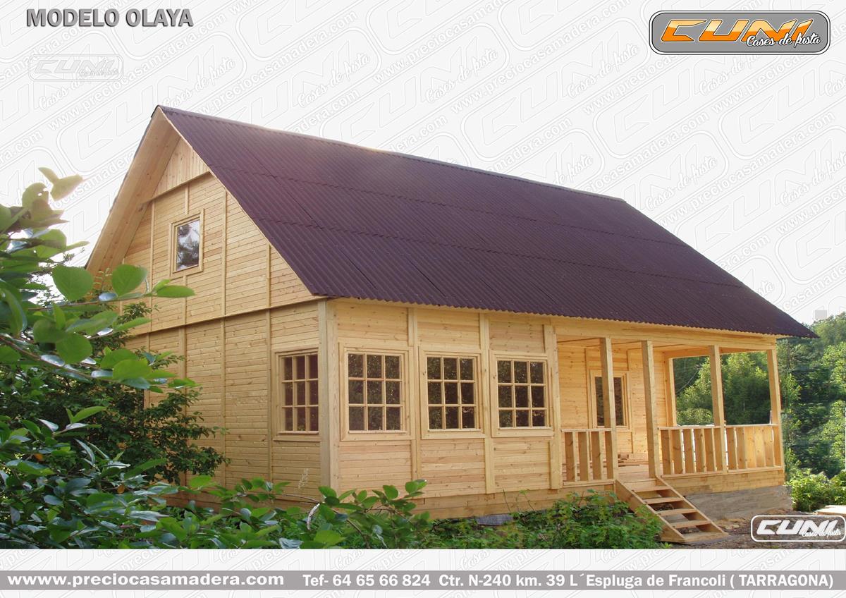 Casa de madera prefabricada olaya casas de madera y for Vendo casa de madera