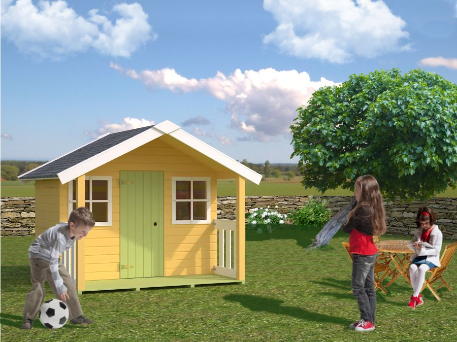Caseta infantil felix casas de madera y bungalows en for Casas de jardin infantiles