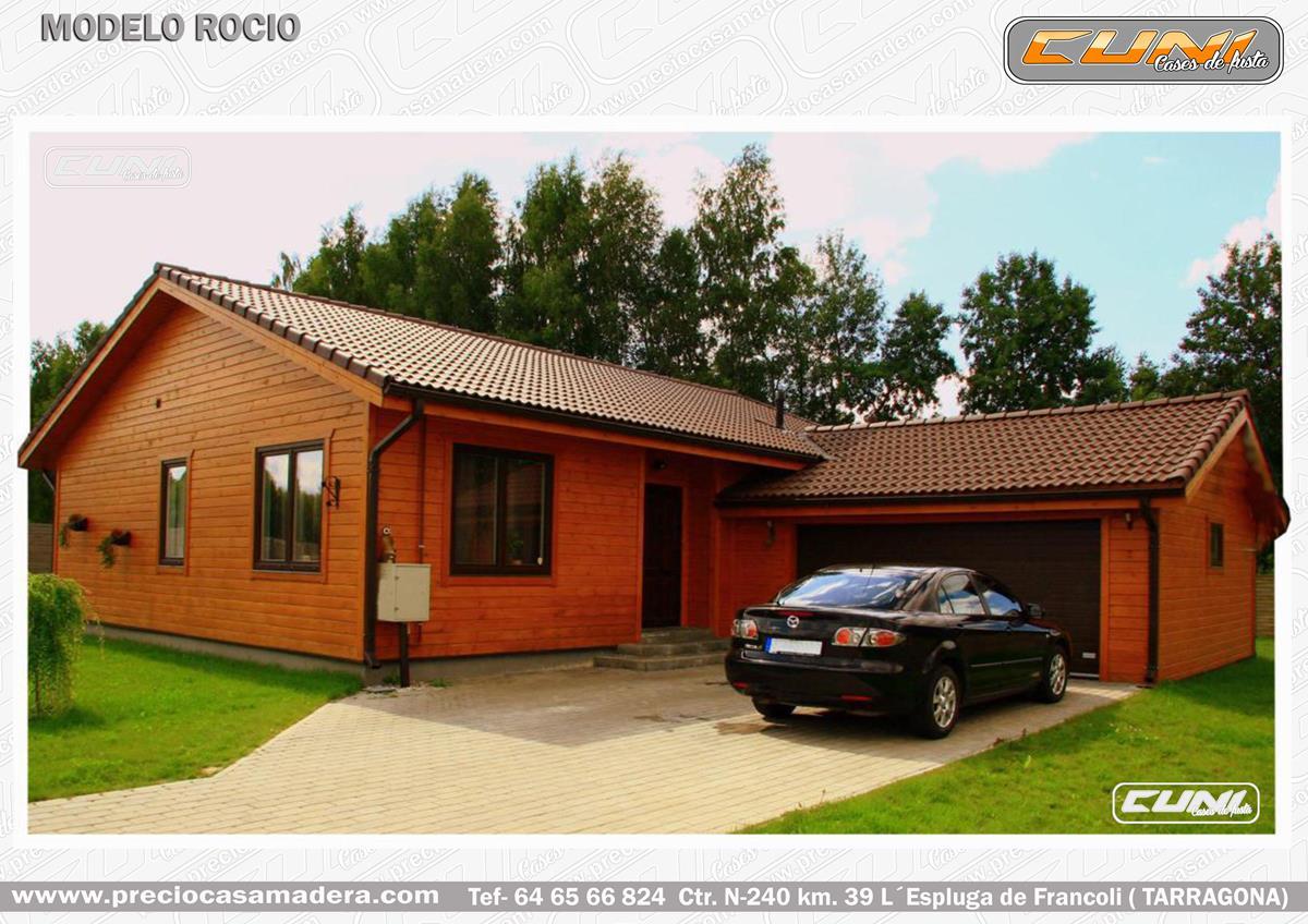 Casa de madera prefabricada rocio casas de madera y for Casas de madera a medida