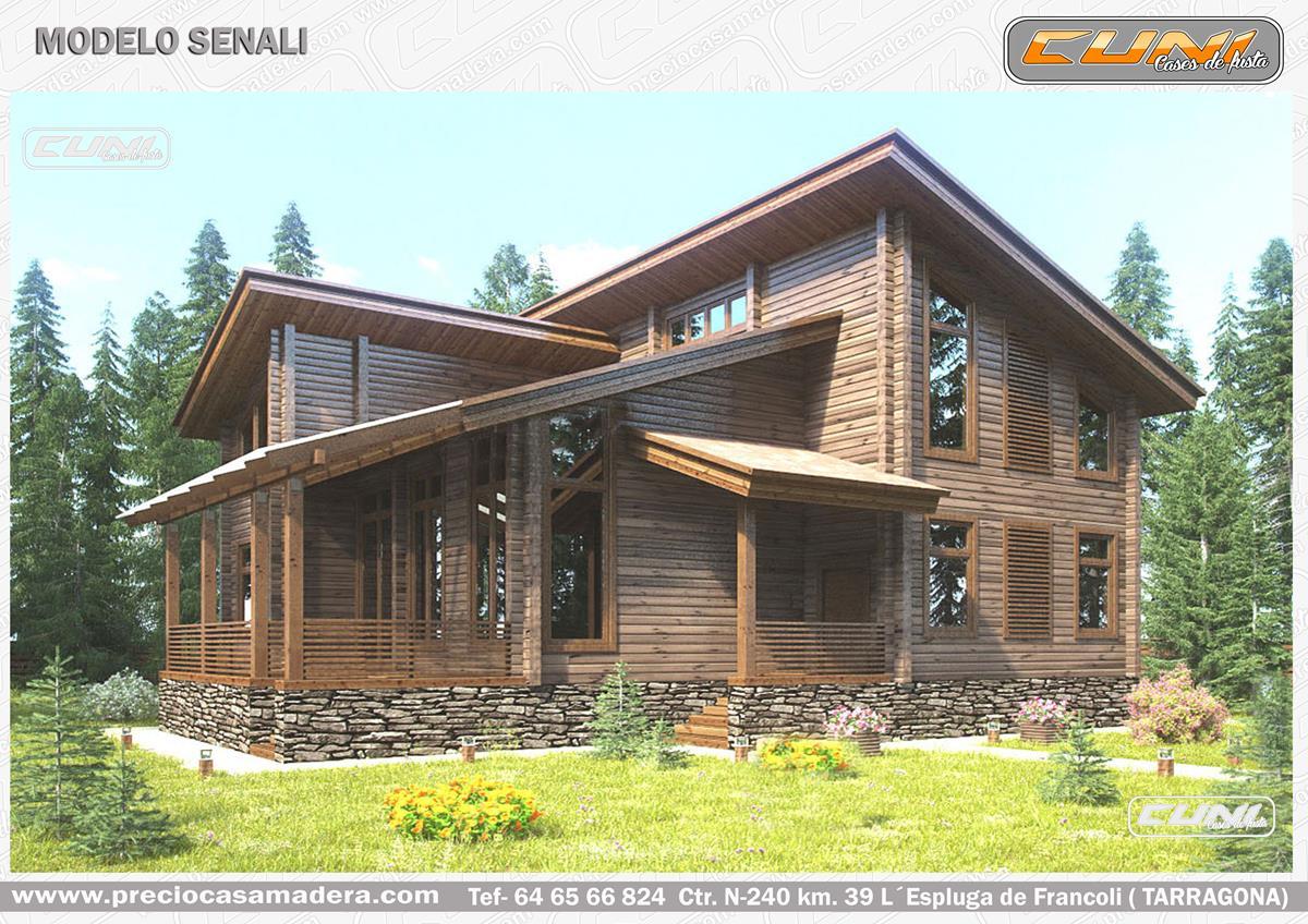 Casa de madera prefabricada senali casas de madera y - Casas prefabricadas tarragona ...