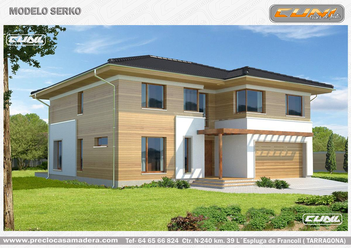 Casa de madera prefabricada serko casas de madera y for Casas de madera a medida