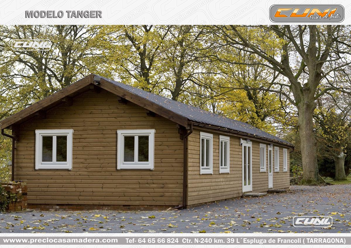 Casa de madera prefabricada tanger casas de madera y - Casas prefabricadas tarragona ...