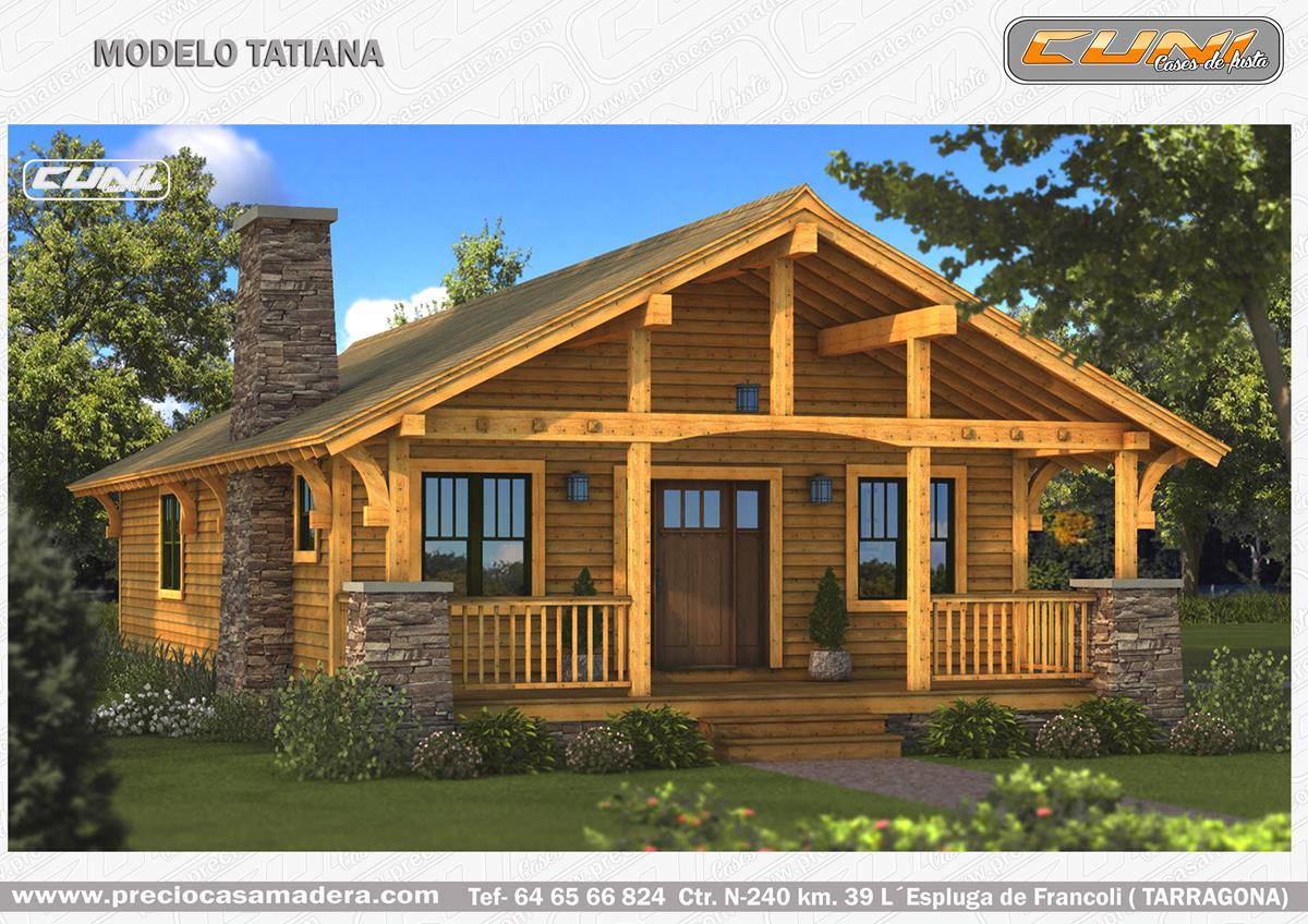 Casa de madera prefabricada tatiana casas de madera y - Casa madera barata ...