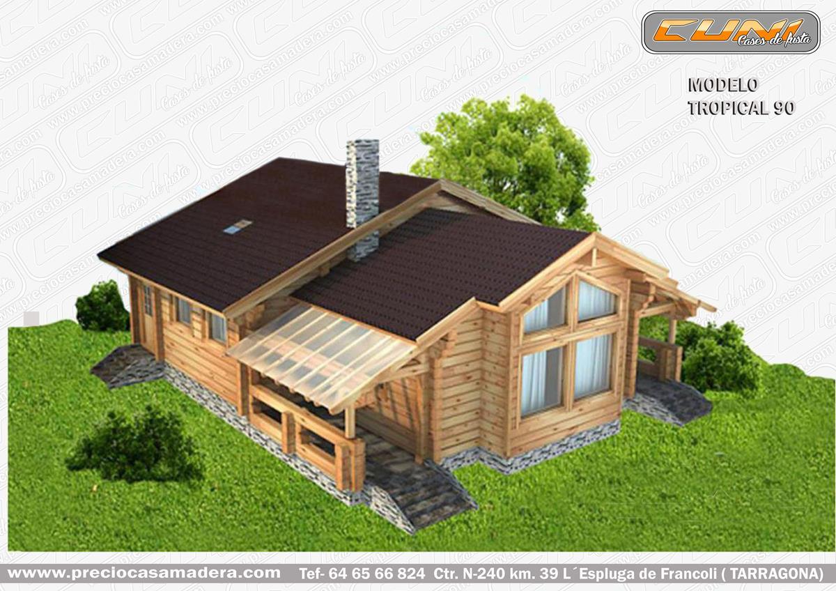 Casa de madera prefabricada tropical 90 casas de madera for Casas de madera a medida