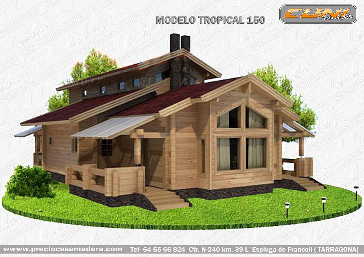 Casas de madera tropical dise os arquitect nicos - Empresa de casas prefabricadas ...