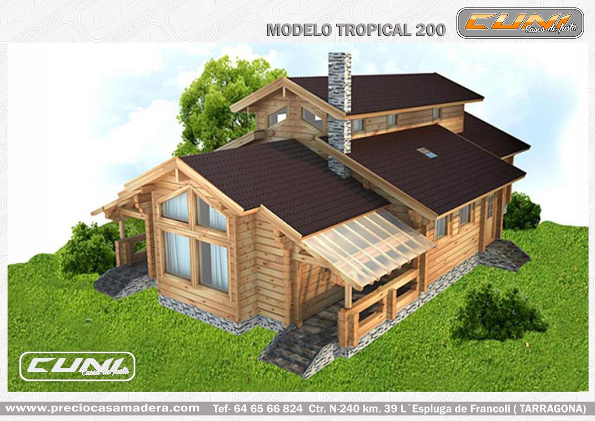 Casa de madera prefabricada tropical 200 casas de madera - Casas prefabricadas tarragona ...