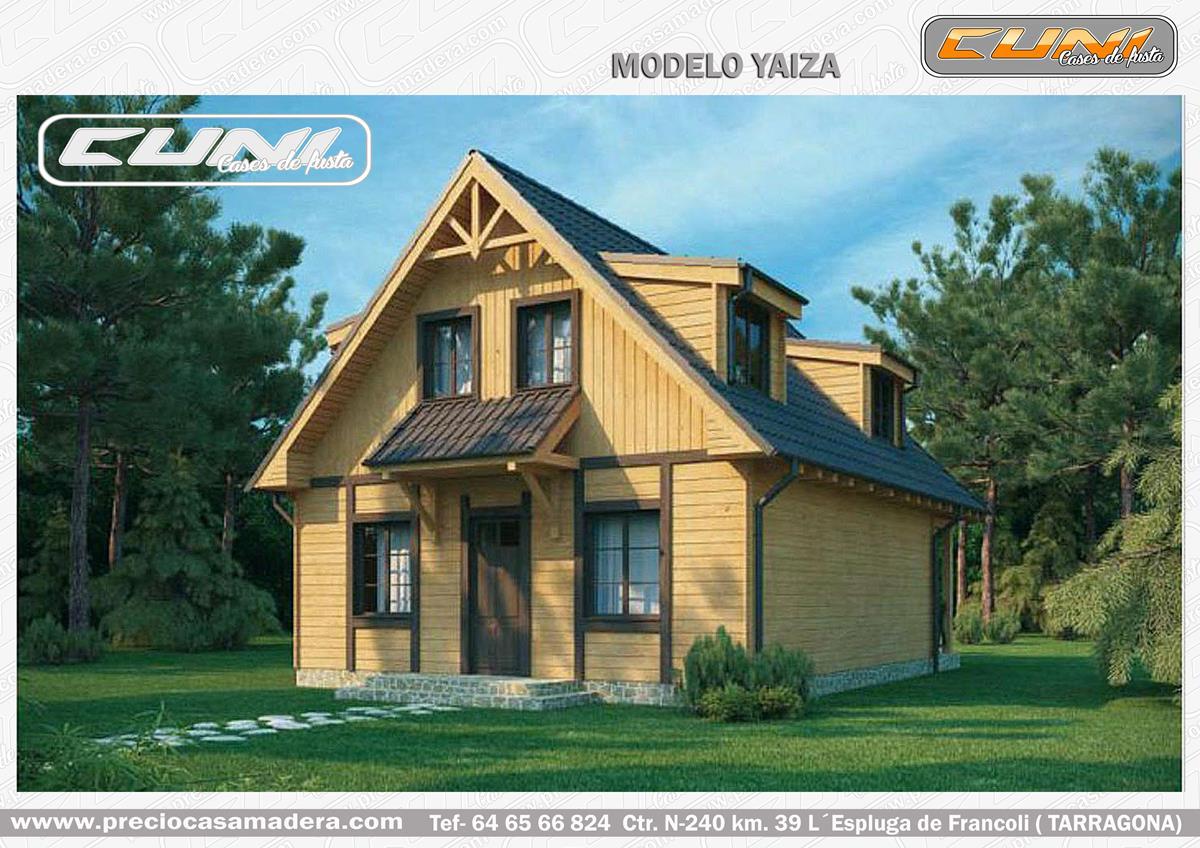 Casa de madera prefabricada yaiza casas de madera y - Casas prefabricadas tarragona ...