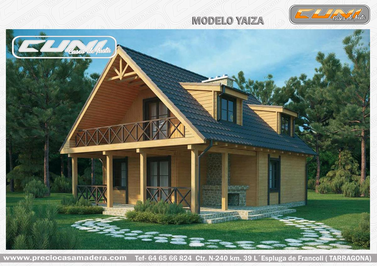 Casa de madera prefabricada yaiza casas de madera y for Casas de madera baratas
