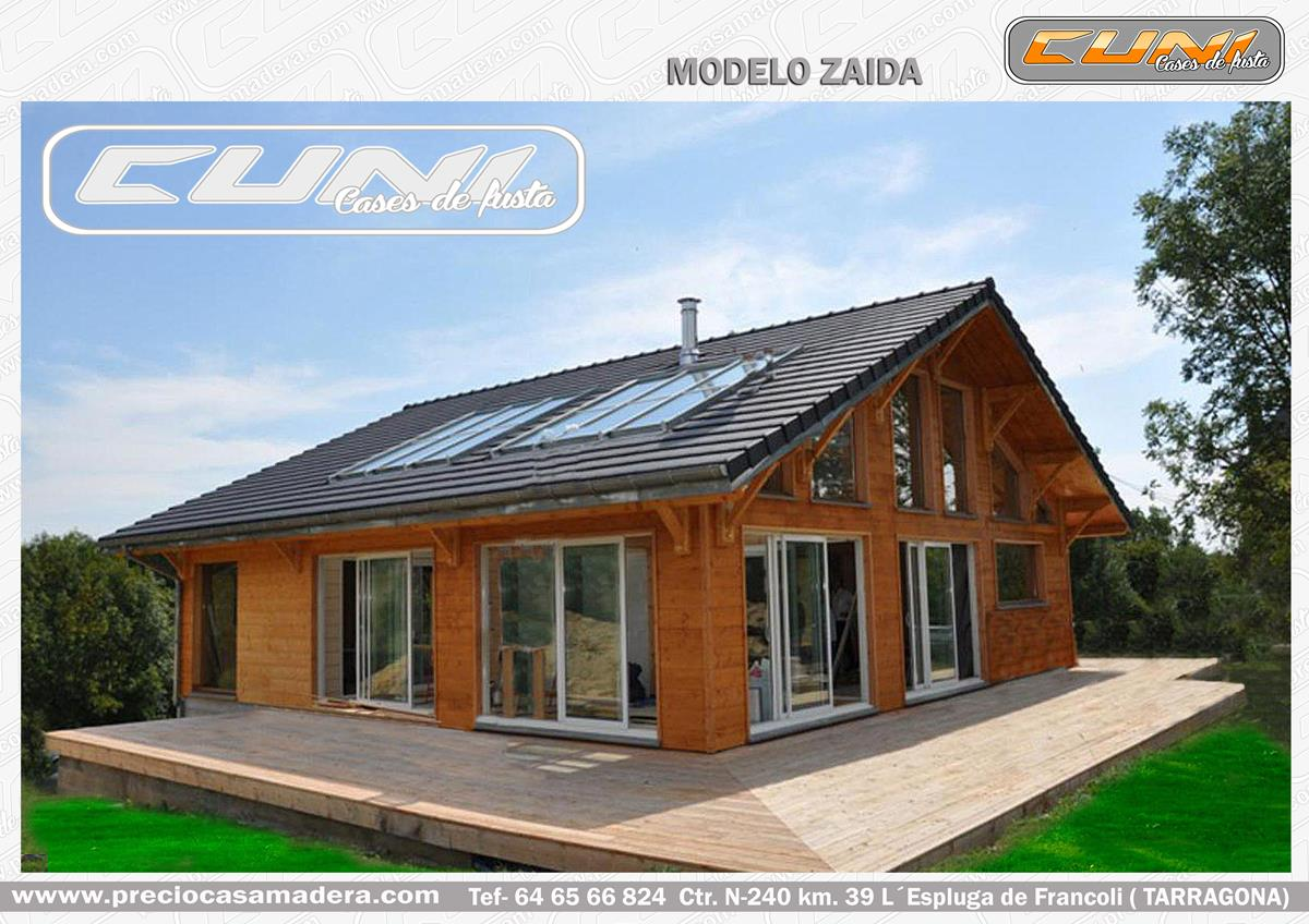 Casa de madera prefabricada zaida casas de madera y - Casas prefabricadas tarragona ...