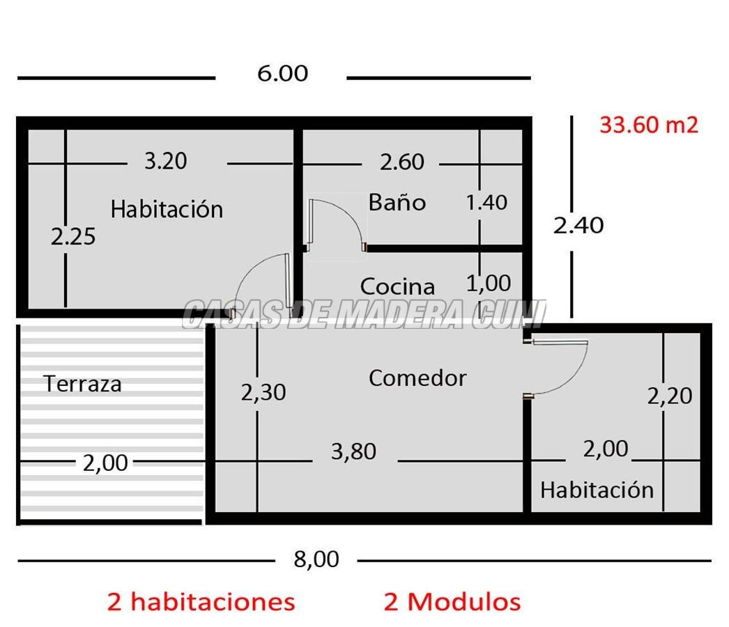 Planos casas de madera y bungalows en tarragona for Planos de madera